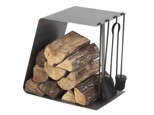 Rangement mixte gain de place - Sélection accessoires cheminée