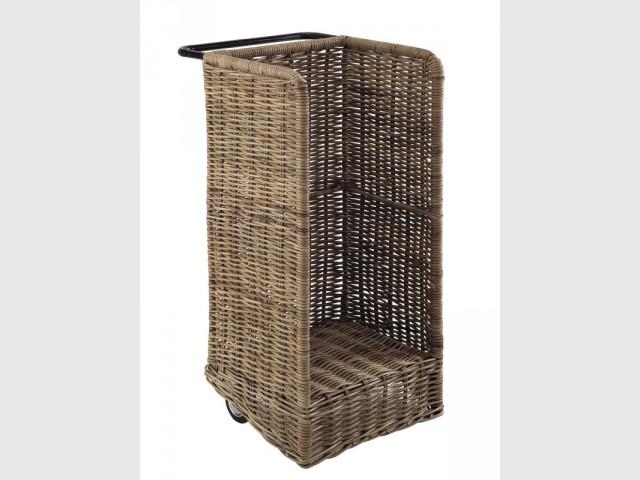 Porte-bûches à roulettes - Sélection accessoires cheminée