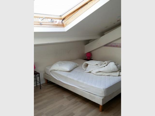 Un lit sous combles remplacé par... - Salle de bains sous les toits