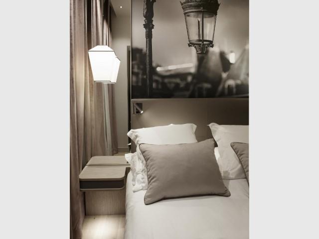 Des meubles sans pied pour plus de légèreté - Hôtel La Lanterne - Paris