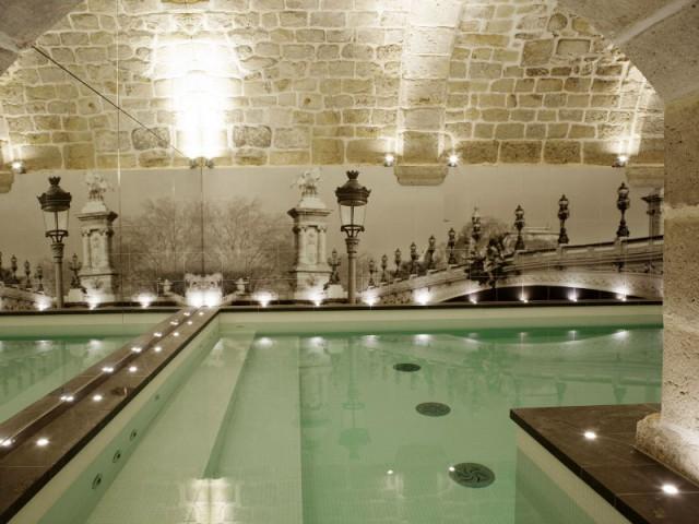 Du carrelage imprimé d'une photographie de Paris - Hôtel La Lanterne - Paris