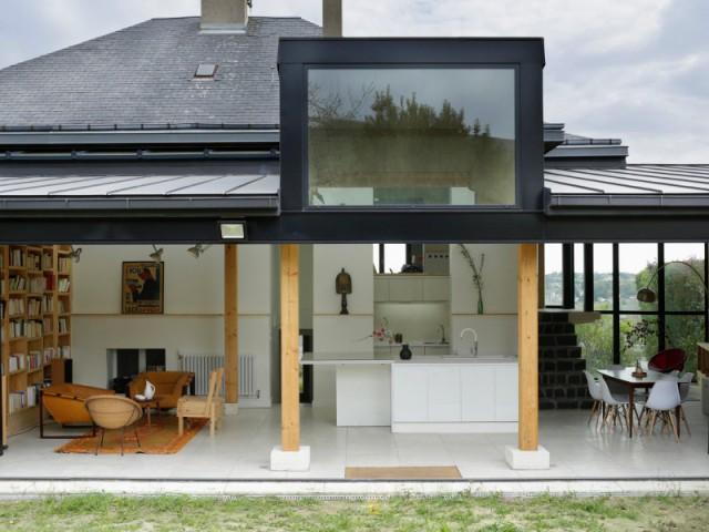 une extension en rez de jardin qui s 39 ouvre sur 9 m tres de long. Black Bedroom Furniture Sets. Home Design Ideas