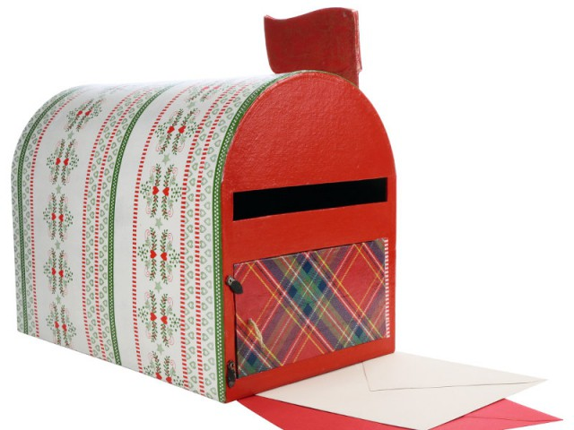 La boîte aux lettres du Père Noël - Déco de Noël DIY