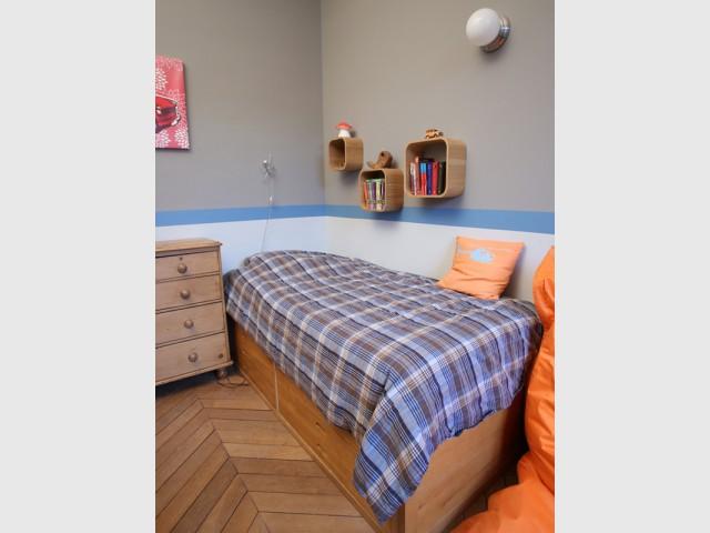 Buanderie supprimée pour créer deux chambres supplémentaires - Un Haussmannien dynamisé par un joyeux mélange