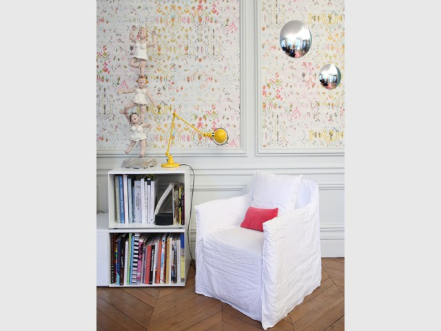 Une décoration haute en couleurs - Un Haussmannien dynamisé par un joyeux mélange