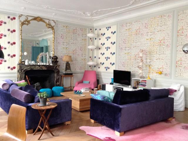 Des mélanges osés dans un appartement classique - Un Haussmannien dynamisé par un joyeux mélange