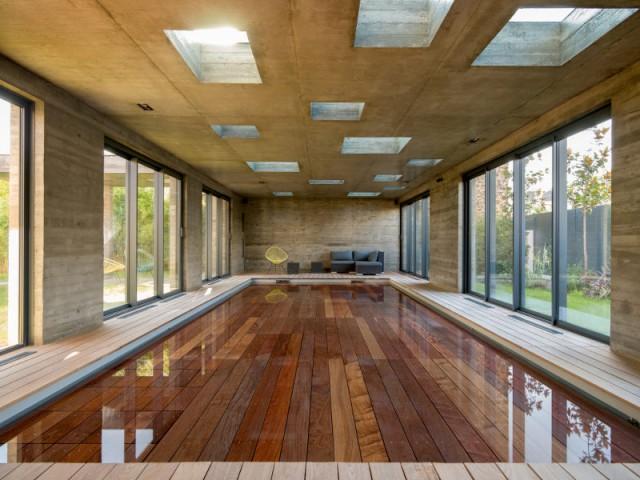 ... qui laisse apparaître la piscine ! - SKP Architecture - Aqua System - L'esprit piscine