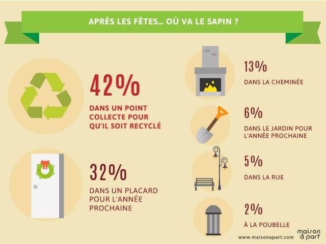 Le recyclage du sapin, une pratique de plus en plus répandue - Les Français et les décorations de Noël