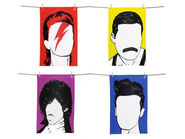 Des torchons à l'effigie des légendes du rock pour les amateurs de musique - Noël 2015 : nos coups de coeur