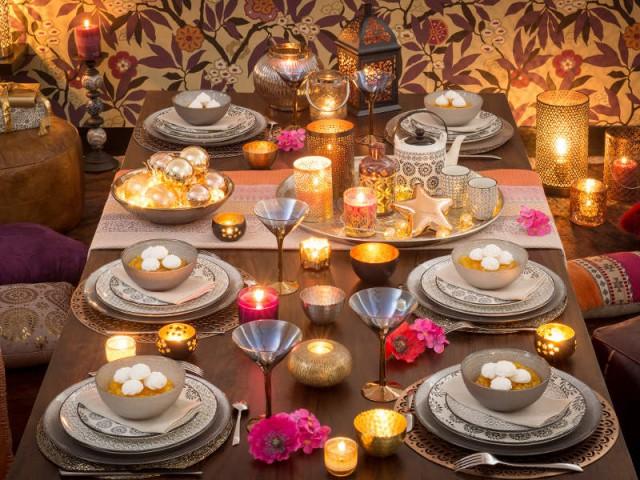 Une table de Noël orientale et chaleureuse - Tables de fêtes 2015