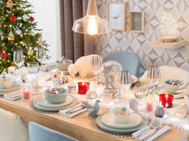 Une table de Noël scandinave et bicolore - Tables de fêtes 2015
