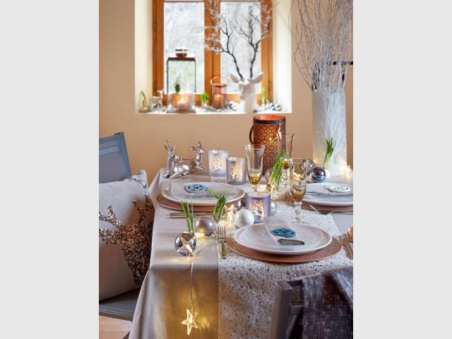 Une table de Noël végétale et animale - Tables de fêtes 2015