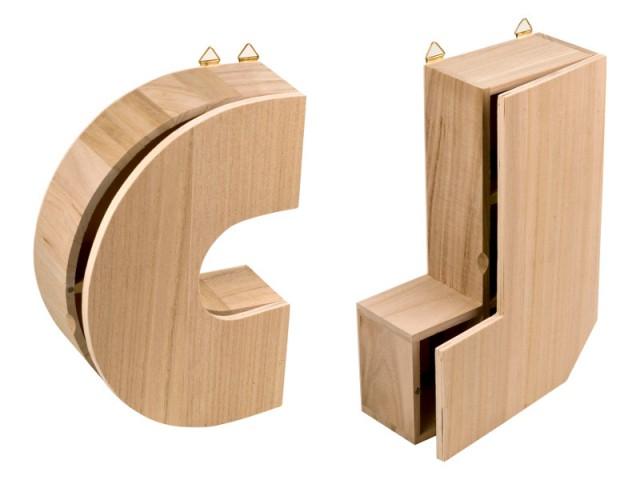 Des étagères en forme de lettres décoratives pour 7 € - Cadeaux de dernière minute à moins de 10 €