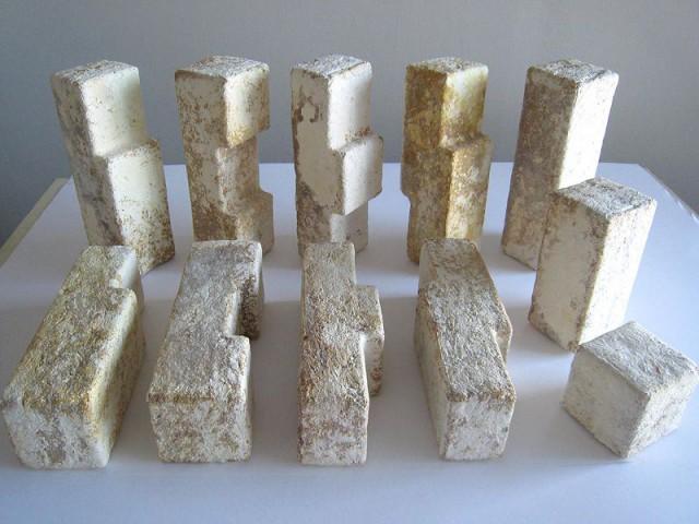 Briques de mycélium