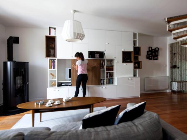 Un design dynamique pour donner de la personnalité à la pièce - Maison de famille signée DamDamDesign