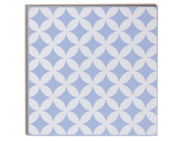 Des carreaux de ciment coloris bleu Serenity - Tendance Rose Quartz et Serenity