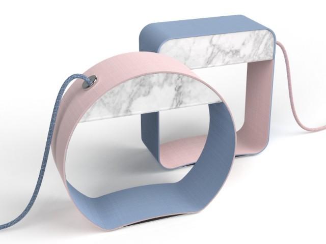Des lampes bicolores rose Quartz et bleu Serenity - Tendance Rose Quartz et Serenity