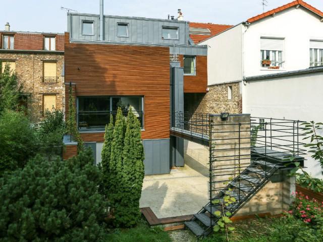 Avant : une extension revue et corrigée - Rénovation d'une maison de ville