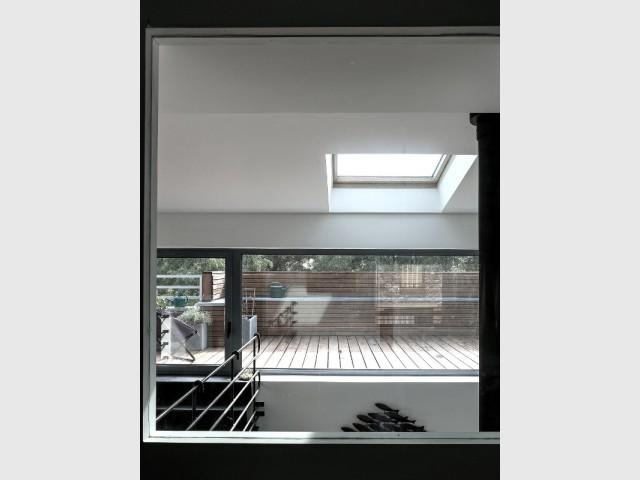 Une vue traversante pour profiter de la lumière - Rénovation d'une maison de ville
