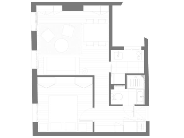 Réorganiser l'espace pour créer une vraie salle d'eau - Appartement parisien de 40 m2
