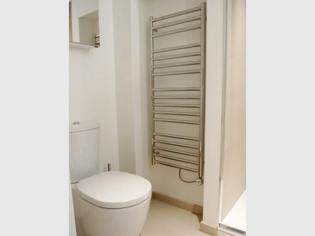 ... y compris un coin dédié aux toilettes ! - Appartement parisien de 40 m2