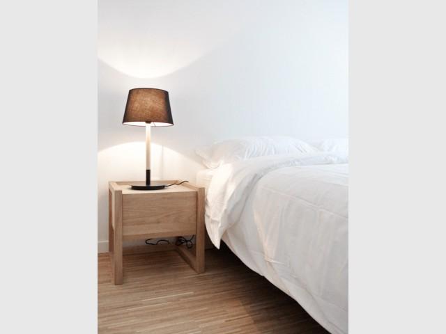 Une chambre entièrement meublée et équipée par l'architecte d'intérieur - Appartement parisien de 40 m2