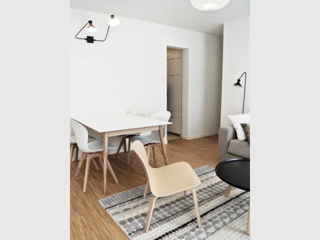 Un style épuré et intemporel pour meubler l'appartement - Appartement parisien de 40 m2
