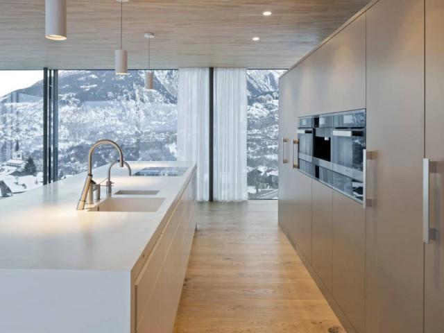 1 chalet moderne performant et ouvert sur la montagne - Cuisine chalet moderne ...