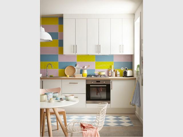 Une cuisine façon patchwork