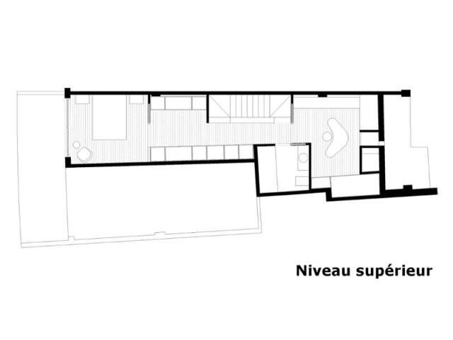 A l'étage, un espace parental de 46 m2 - Duplex à La Corogne par CastroFerro Architectes