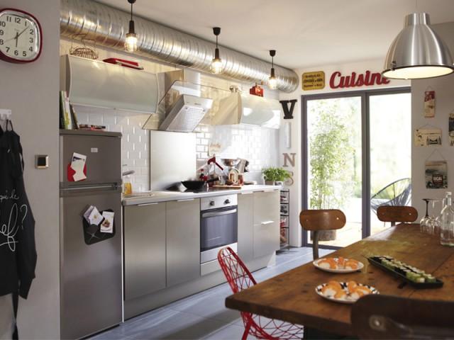 Une cuisine aux airs industriels