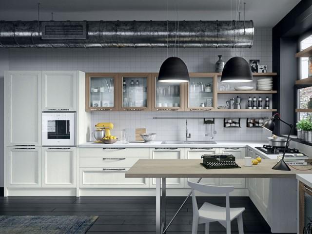 Agrémenter la cuisine d'un élément industriel récup' - Une cuisine aux airs industriels