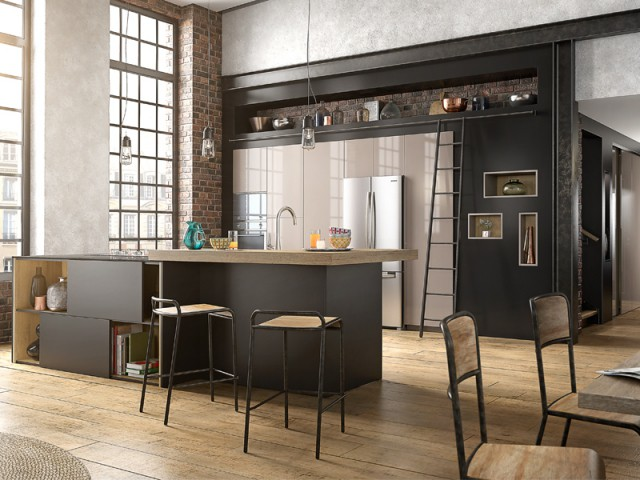 d co comment donner un air industriel sa cuisine. Black Bedroom Furniture Sets. Home Design Ideas
