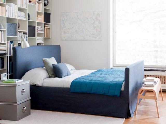 Nuance de bleu denim pour une chambre urbaine - Idées pour une chambre bleue