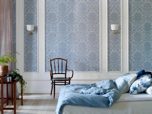 Nuance de bleu fumée pour une chambre lumineuse - Idées pour une chambre bleue