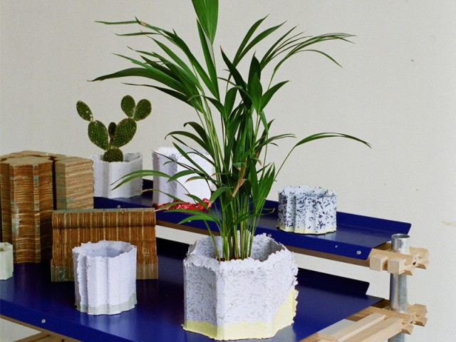 Pots de fleur en pulpe de papier - Objets en pulpe de papier