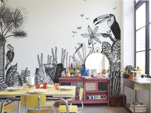 """Une cuisine aux airs """"jungle"""""""
