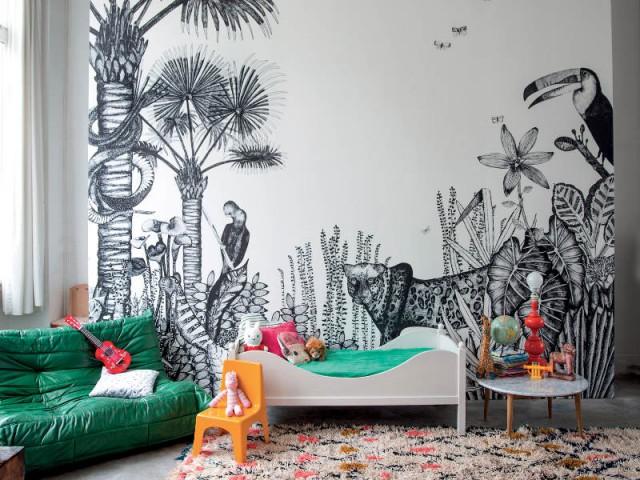 """Un salon """"jungle"""" pour voyager - un salon aux airs de """"jungle"""""""