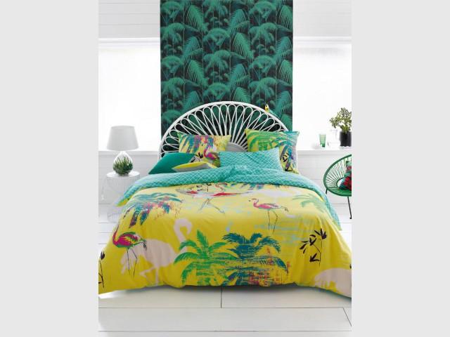 """Une chambre """"jungle"""" pour plus d'excentricité  - Une chambre entièrement """"jungle"""""""