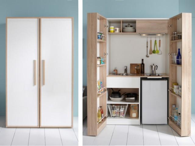 Une cuisine qui tient dans une armoire - Ces meubles à habiter