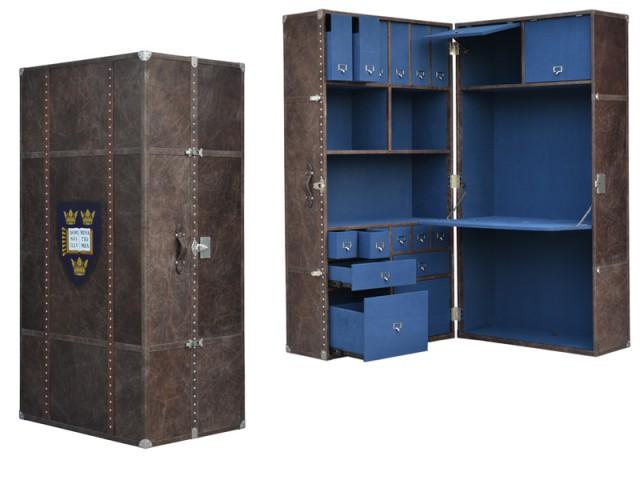 Une malle de rangement qui abrite un secrétaire - Ces meubles à habiter