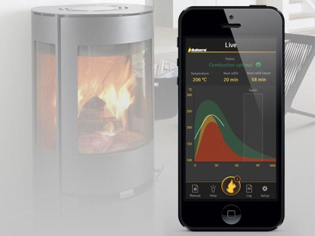 Une appli pour mieux gérer la combustion du bois - Aduro Smart Response
