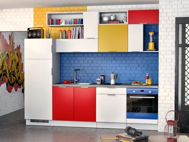 Un intérieur dépareillé style Mondrian - Un intérieur dépareillé