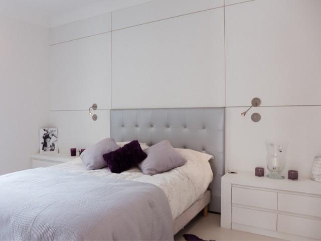 Une suite parentale située dans la partie reculée de l'appartement - Un 115 m2 se réinvente autour d'une cuisine