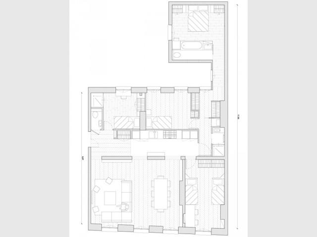 Fiche technique - Un 115 m2 se réinvente autour d'une cuisine