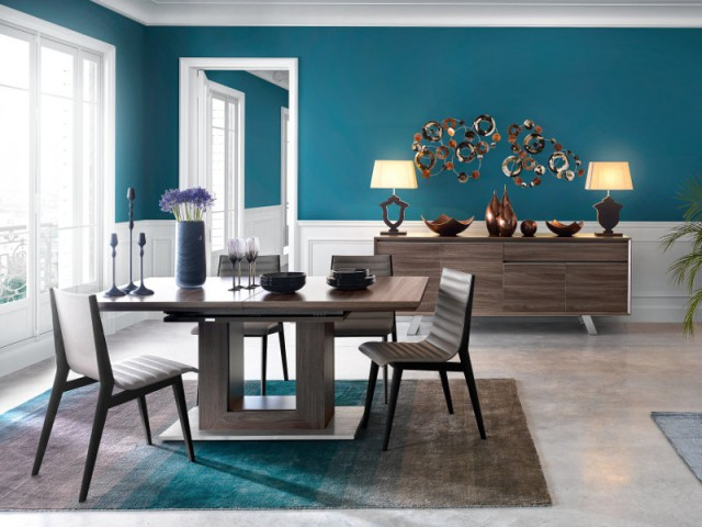 10 astuces pour dynamiser sa salle manger - Couleur pour salon salle a manger ...