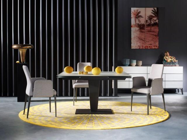 Un tapis coloré pour une salle à manger élégante - Dynamiser sa salle à manger