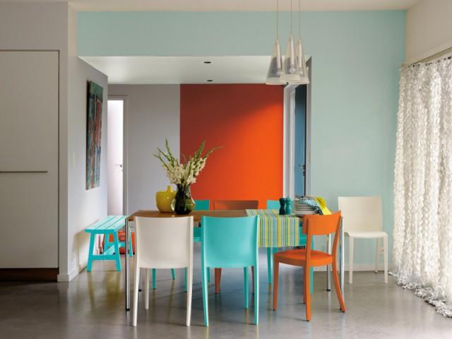 Des murs peints pour une salle à manger acidulée - Dynamiser sa salle à manger