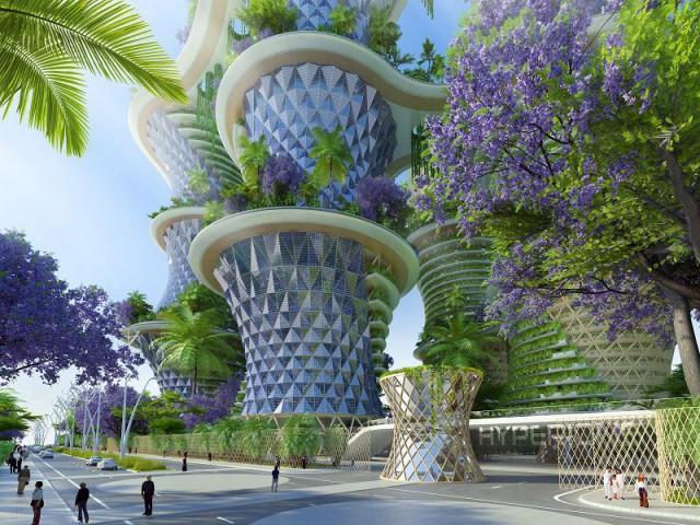 Hypérions : une ville-jardin verticale - Hypérions