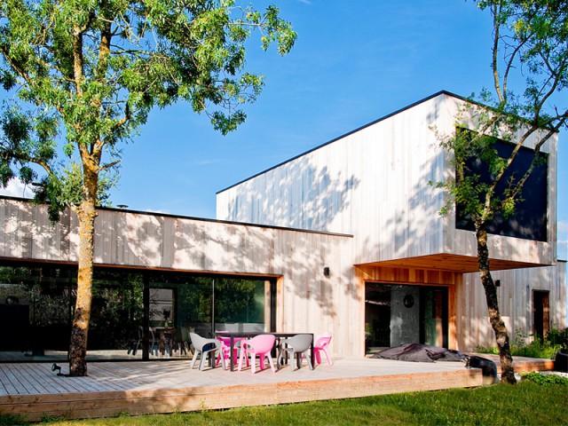 Une forme simple dictée par la nature - Une maison construite entre les arbres